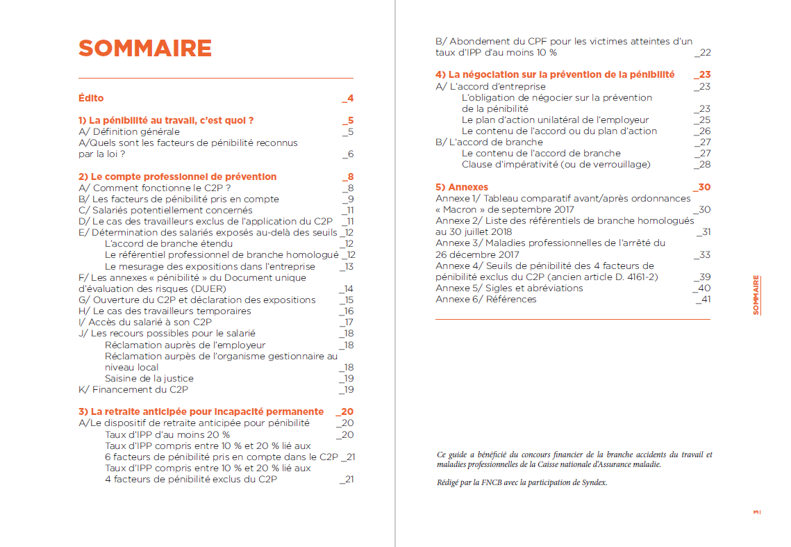 sommaire guide C2P