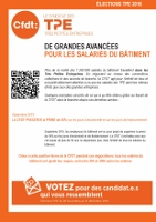 Tract CFDT TPE bâtiment